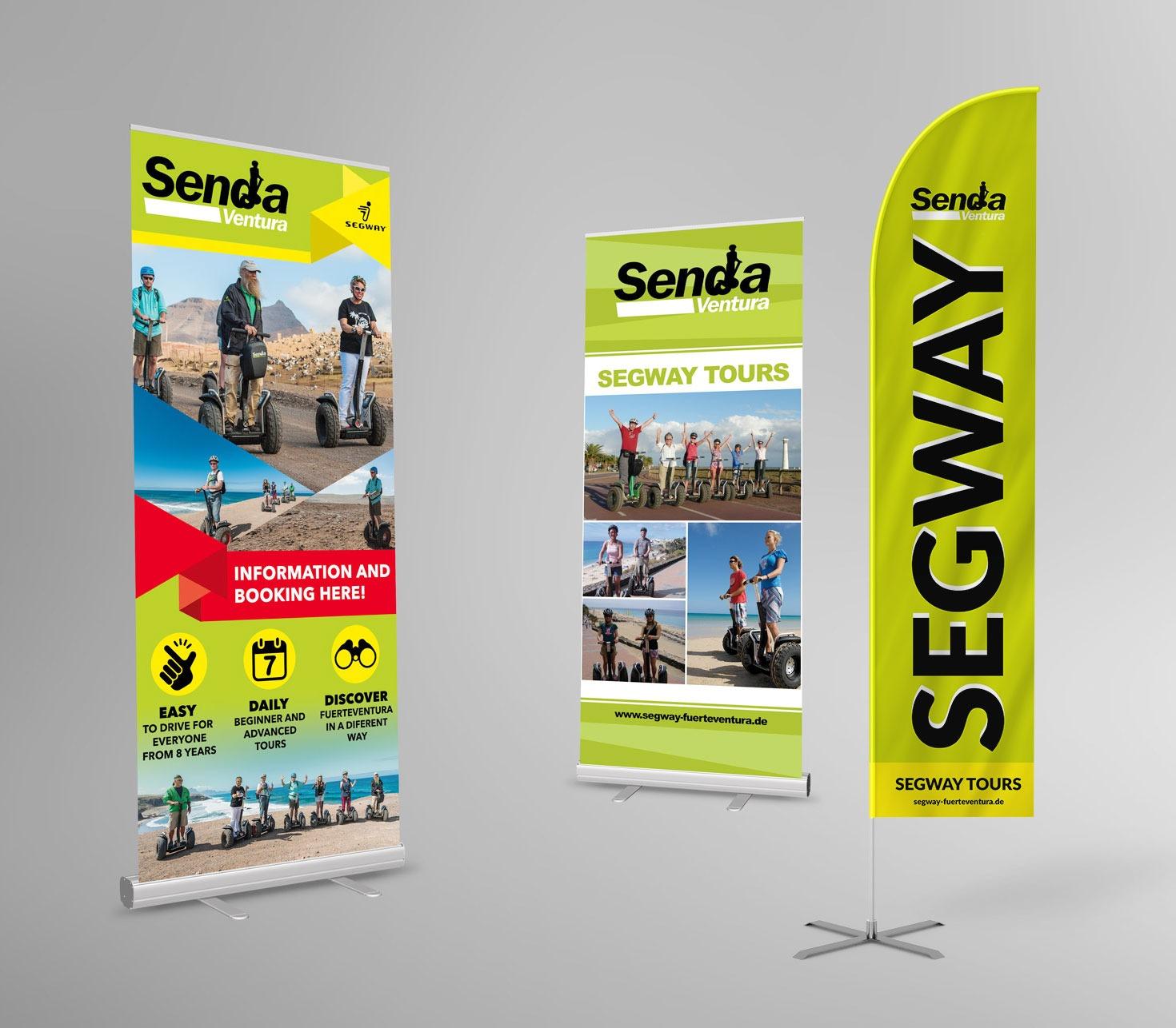 Senda Ventura - Segway Rollup Flag Design