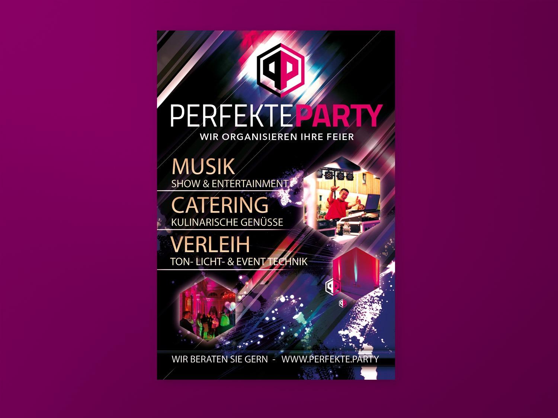 Perfekte Party Flyer Design
