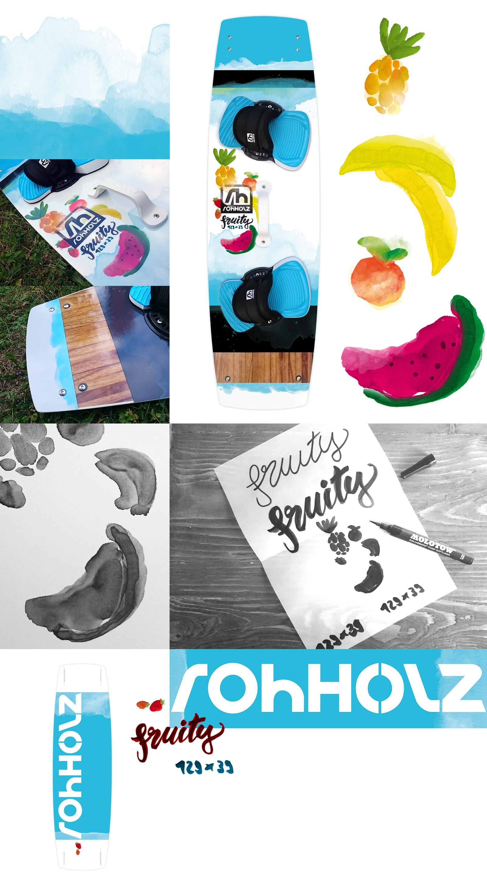 Rohholz Kiteboard Design - Fruity